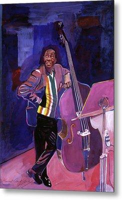 Milt Hinton Jazz Bass Metal Print by David Lloyd Glover