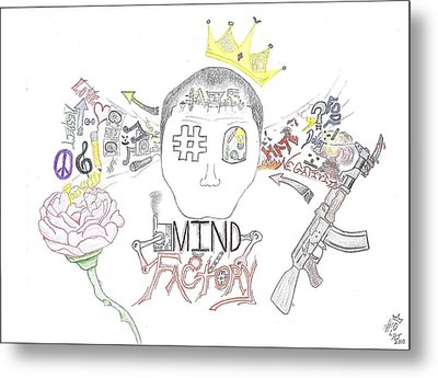 Mind Factory Metal Print by Devrryn Jenkins