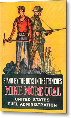 Mine More Coal Metal Print by David Letts