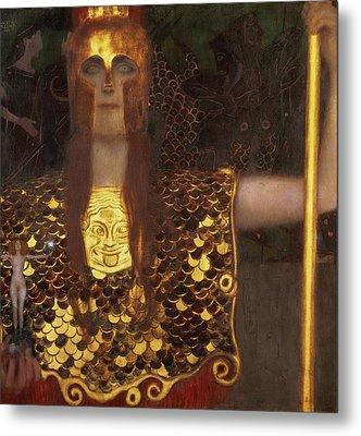 Minerva Metal Print by Gustav Klimt