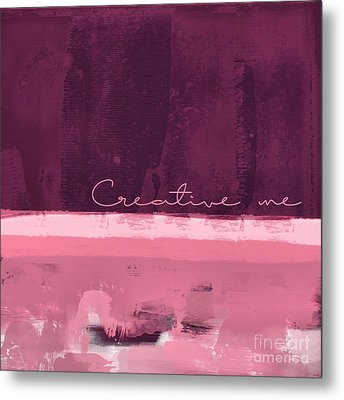 Minima - Creative Me - R01at55 - Pinks Metal Print by Variance Collections