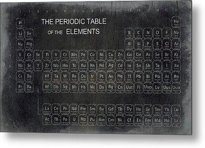 Minimalist Periodic Table Metal Print by Daniel Hagerman