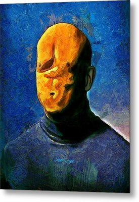 Misfaced Metal Print by Leonardo Digenio