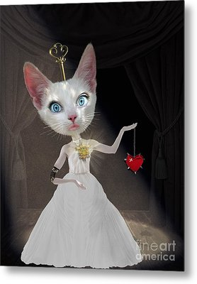 Miss Kitty Metal Print by Juli Scalzi