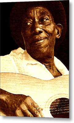 Mississippi John Hurt Metal Print by Jeff DOttavio