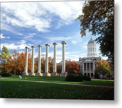 Missouri Columns And Jesse Hall Metal Print by University of Missouri
