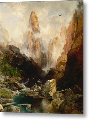 Mist In Kanab Canyon Utah Metal Print by Thomas Moran