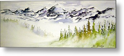 Mist In The Mountains Metal Print by Joanne Smoley