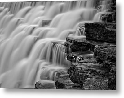Misty Cascade Metal Print by James Barber