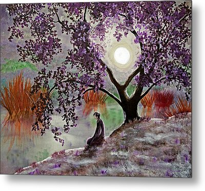 Misty Morning Meditation Metal Print by Laura Iverson