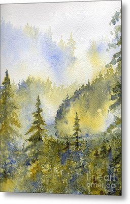 Misty Mountain Morning Metal Print by Lisa Bell