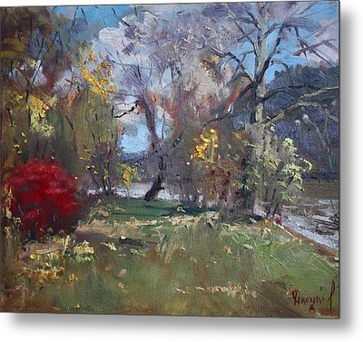 Mixed Weather In A Fall Afternoon Metal Print by Ylli Haruni