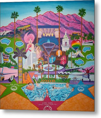 mmmm... Palm Springs Metal Print by Randall Weidner