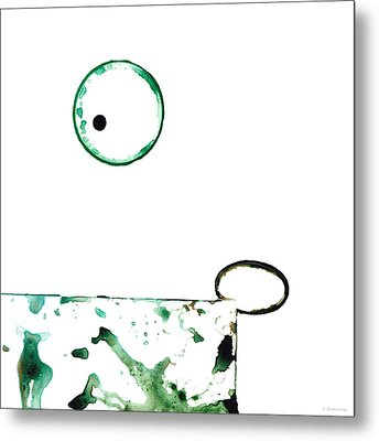 Modern Art - Balancing Act 1 - Sharon Cummings Metal Print by Sharon Cummings