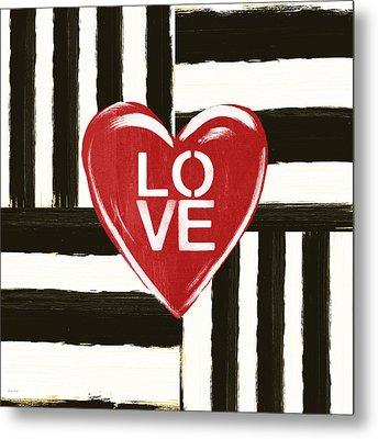 Modern Love- Art By Linda Woods Metal Print by Linda Woods