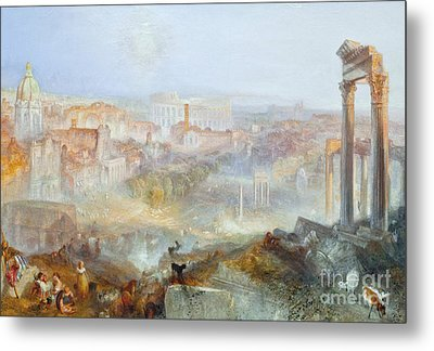 Modern Rome - Campo Vacino Metal Print by Celestial Images