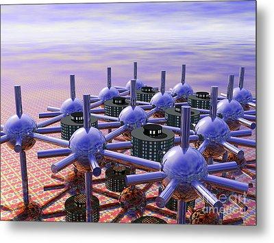 Modular City Metal Print by Nicholas Burningham