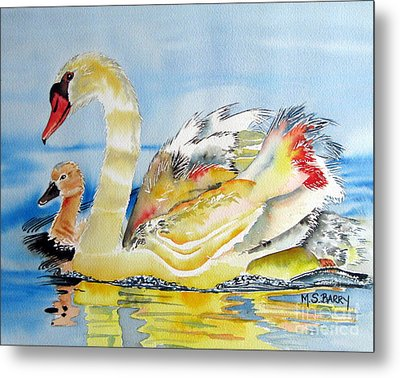 Mom And Baby Metal Print by Maria Barry