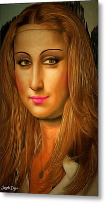 Mona Lisa Teen - Da Metal Print by Leonardo Digenio