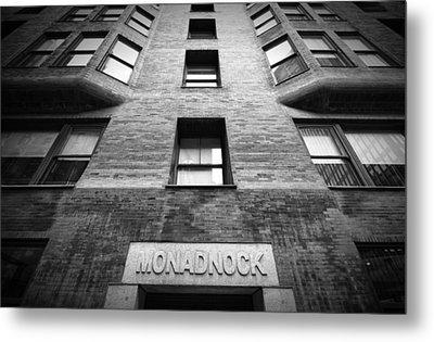 Monadnock Building Metal Print by Mike Burgquist