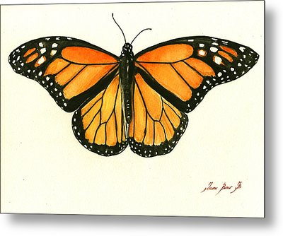 Monarch Butterfly Metal Print by Juan Bosco