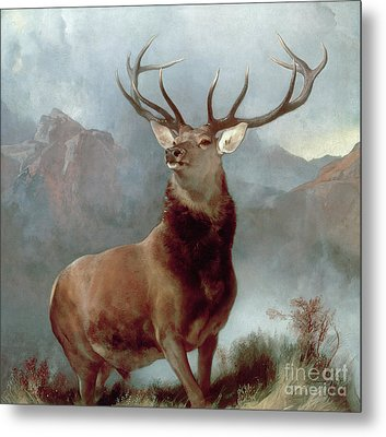 Monarch Of The Glen Metal Print by Sir Edwin Landseer