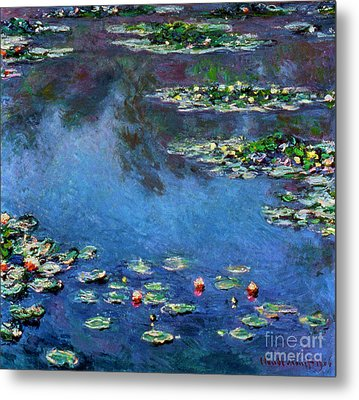 Monet: Waterlilies, 1906 Metal Print by Granger