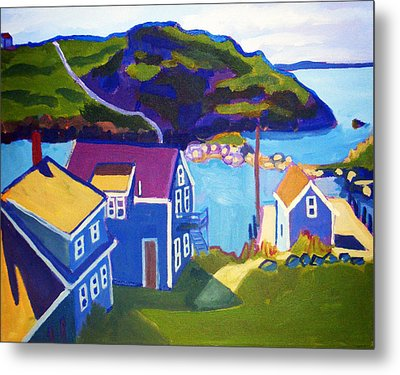Monhegan Harbor Metal Print by Debra Bretton Robinson