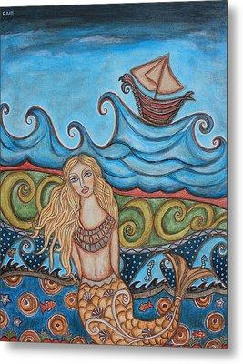 Monique Mermaid Metal Print by Rain Ririn