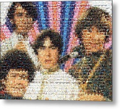 Monkees Mosaic Metal Print by Paul Van Scott