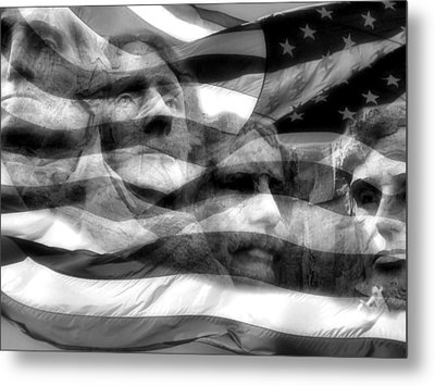 Mono Fathers Metal Print by Tingy Wende