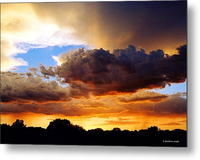 Monsoon Sunset Metal Print by David Coyle