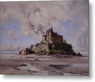 Mont Saint Michel Metal Print by Emmanuel Lansyer
