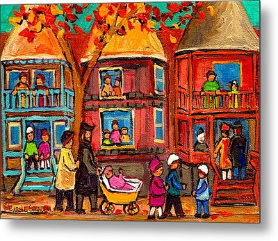 Montreal Early Autumn Metal Print by Carole Spandau