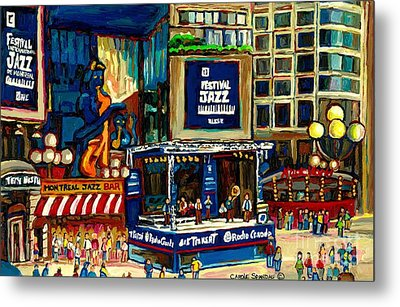 Montreal International Jazz Festival Metal Print by Carole Spandau