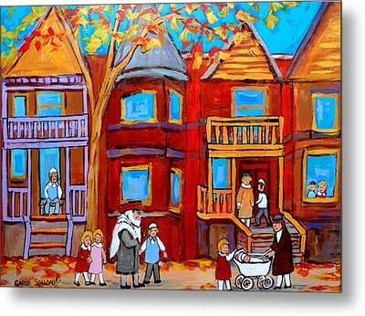 Montreal Memories Of Zaida And The Family Metal Print by Carole Spandau