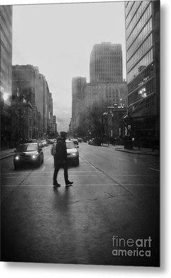 Montreal On A Rainy Day Metal Print by Reb Frost