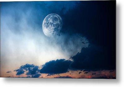 Moon Metal Print by Bob Orsillo