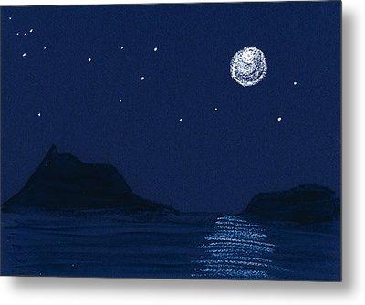 Moon On The Ocean Metal Print by Hakon Soreide