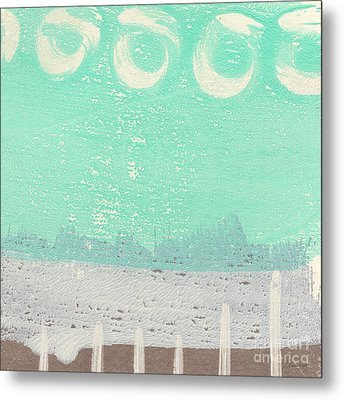 Moon Over The Sea Metal Print by Linda Woods