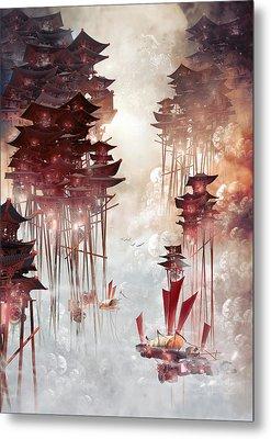 Moon Palace Metal Print by Te Hu