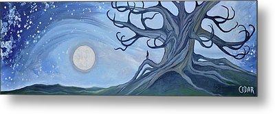 Moon Watcher Metal Print by Cedar Lee