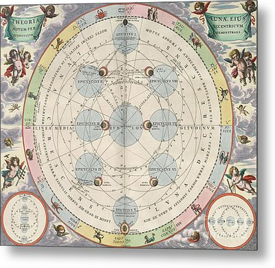Moon With Epicycles Harmonia Metal Print by Science Source