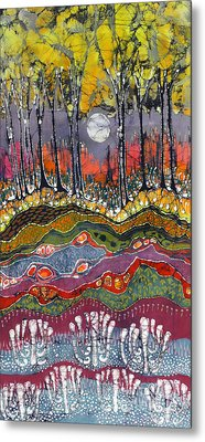 Moonlight Over Spring Metal Print by Carol  Law Conklin