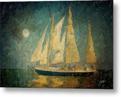 Moonlight Sail Metal Print by Michael Petrizzo