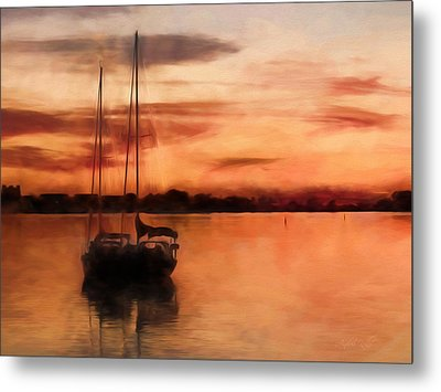 Moored For The Night Metal Print by Andrea Kollo