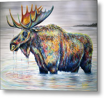 Moose Island Metal Print by Teshia Art