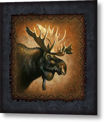 Moose Lodge Metal Print by JQ Licensing