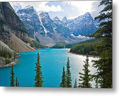 Moraine Lake Metal Print by Adam Pender