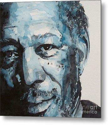Morgan Freeman Metal Print by Paul Lovering